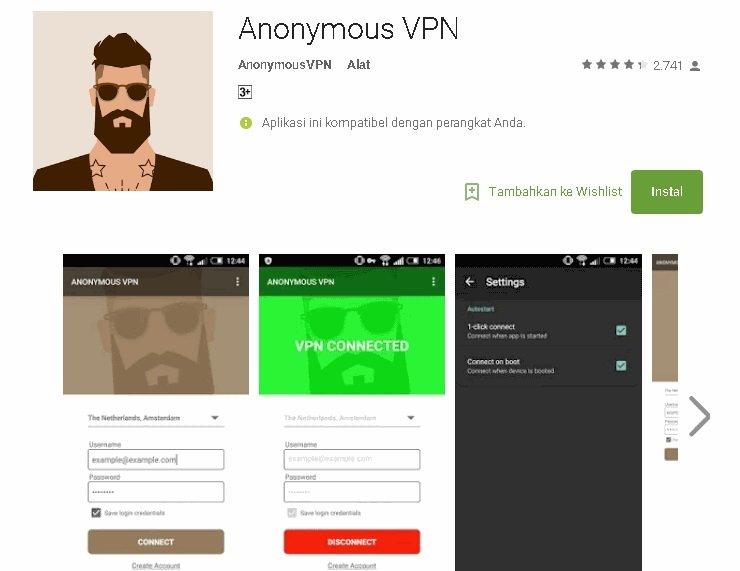 Anonymous vpn установить