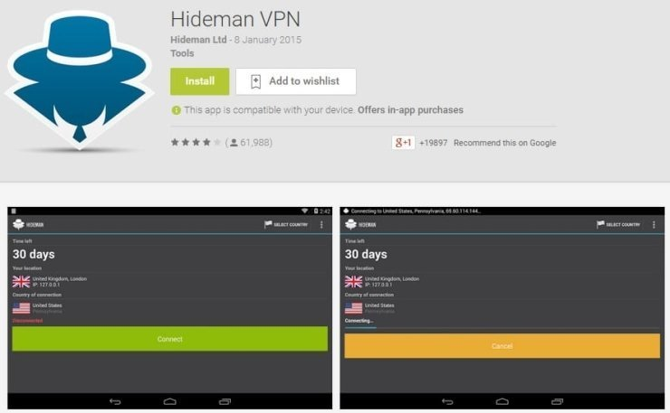 Установка Hideman VPN