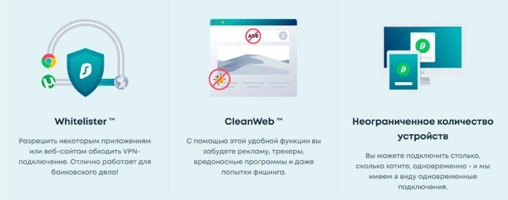 преимущества Surfshark VPN
