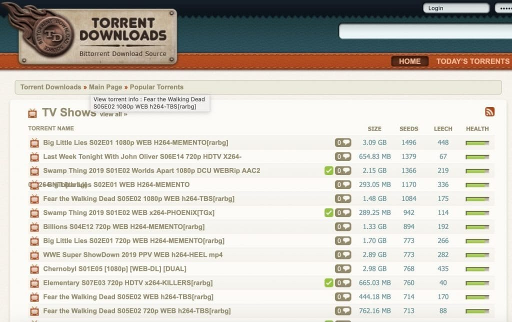 Torrent Downloads Top Torrent site