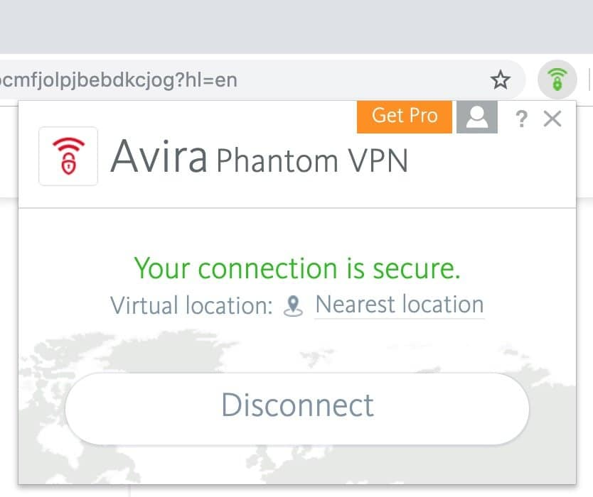 Avira Phantom VPN for Chrome Free extension